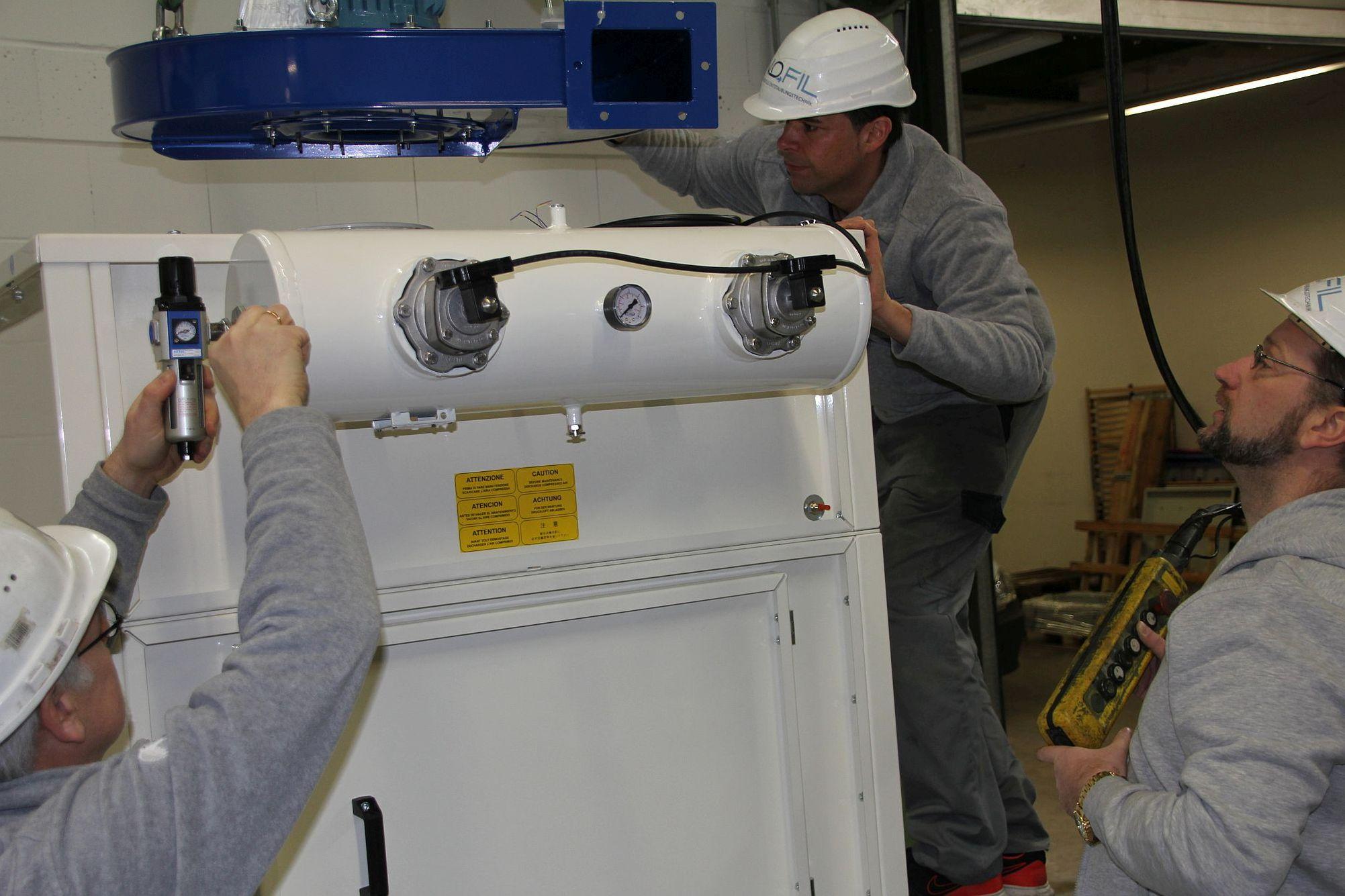 Innofil - unsere Leistungen zur Steigerung der Energieeffizienz industieller Entstaubungstechnik